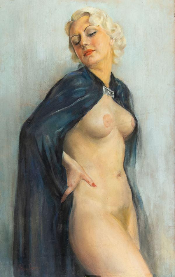 Vittorio Gussoni - Nudo con mantello