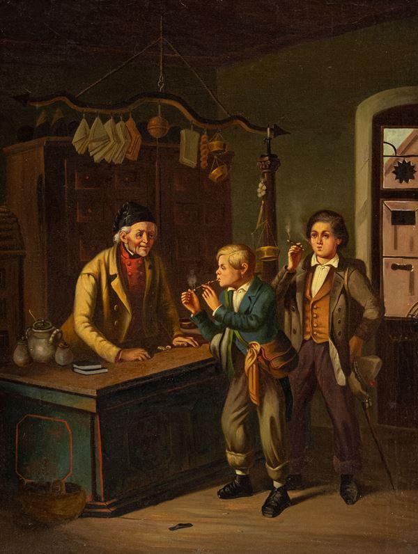 Anonimo genovese del XIX secolo - Dal tabaccaio