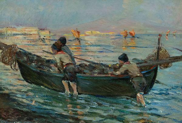 Alceste Campriani - Barca con mariani