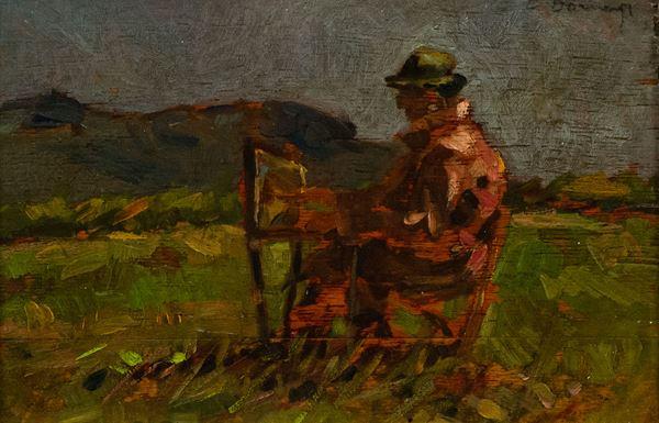 Carlo Domenici - Ritratto di Giovanni Lomi a lavoro