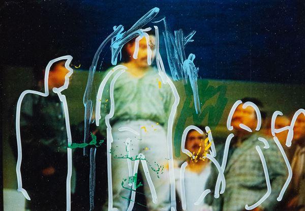 Mario Schifano : Senza titolo  - Foto ritoccata a mano - Asta Asta 86 di Arte Moderna e Contemporanea - Fabiani Arte