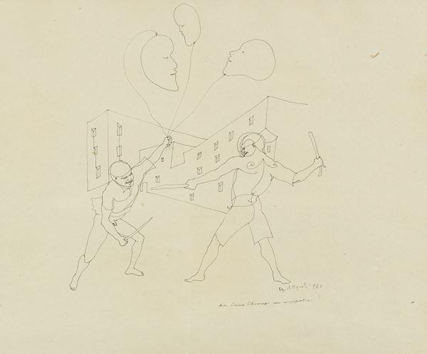 Ugo Attardi - Figure che combattono