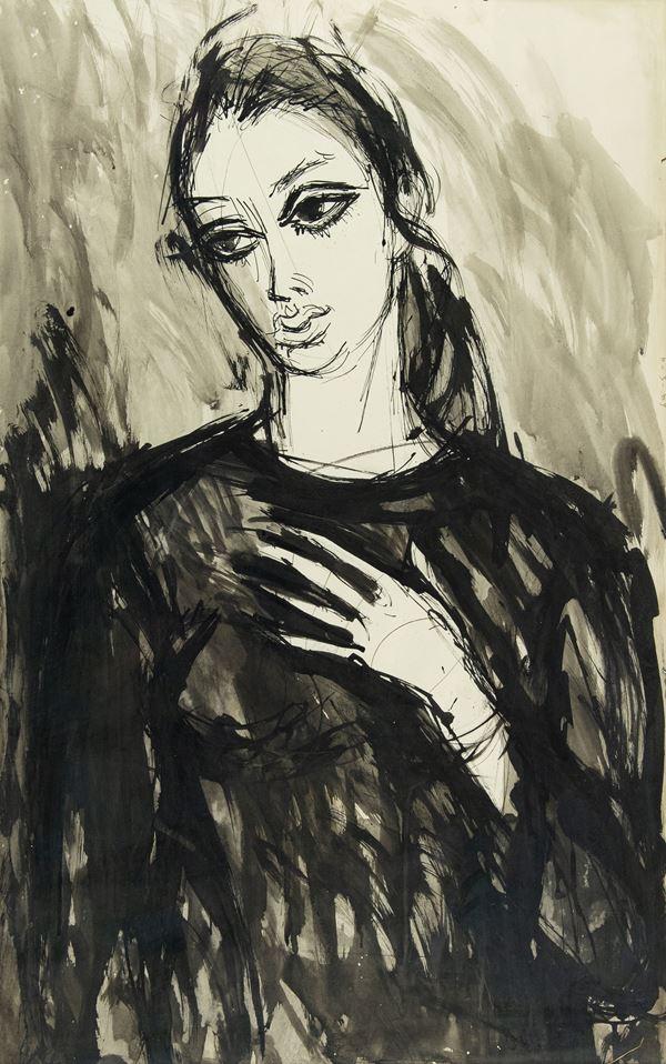 Anonimo - Figura di donna