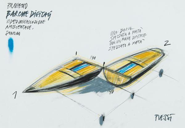Fabrizio Plessi - Progetto barche digitali