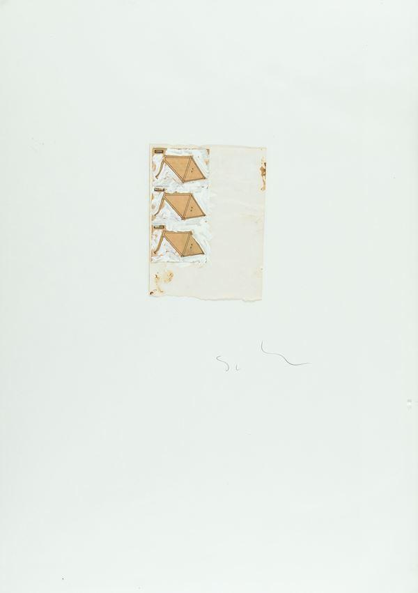 Mario Schifano : Senza titolo 1979 - Smalti e collage su carta - Asta Arte Moderna e Contemporanea, '800 e'900 - Fabiani Arte