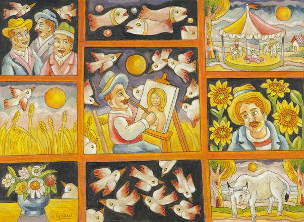 Roberto Sguanci - Composizione il pittore