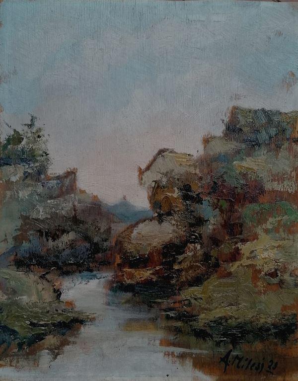 Alessandro Milesi - Paesaggio