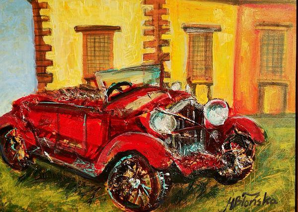 Blonska Margherita - Red car Bellavista