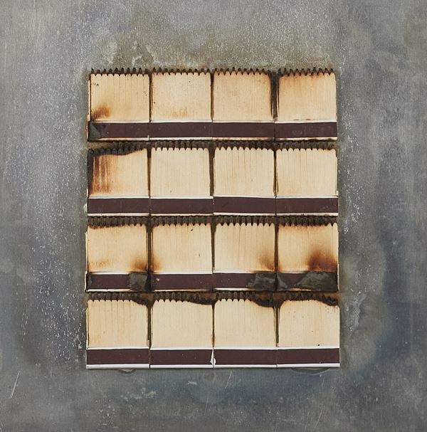 Bernard Aubertin - Dessin de feu sur alluminium