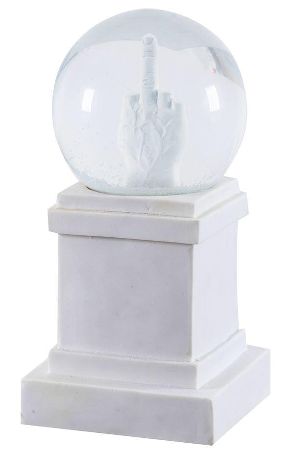Maurizio Cattelan - L.O.V.E snowball