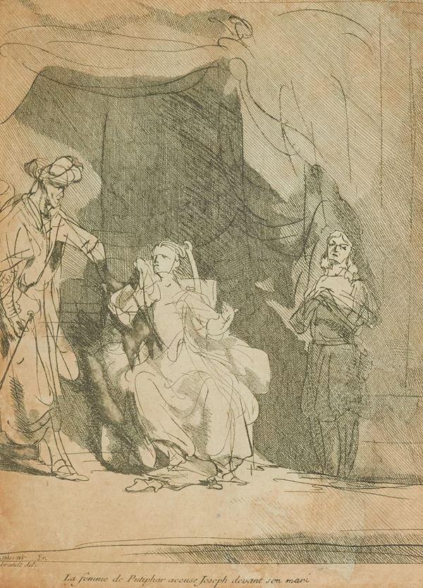 Van Rijn Rembrandt - La femme de Putiphar accuse Joseph devant son mari