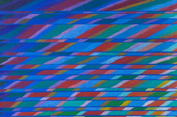 Piero Dorazio : Parapamiso III 1981 - Olio su tela - Asta Arte Moderna e Contemporanea,  [..]