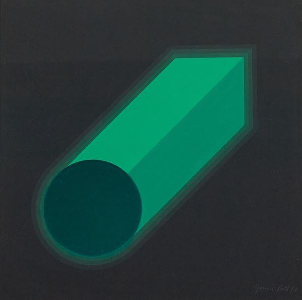 Horacio Garcia Rossi : Senza titolo 1973 - Tecnica mista e collage su cartoncino  [..]