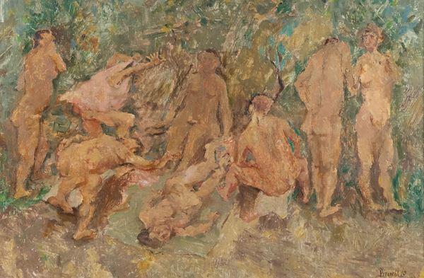 Fausto Pirandello - Nudi nel bosco