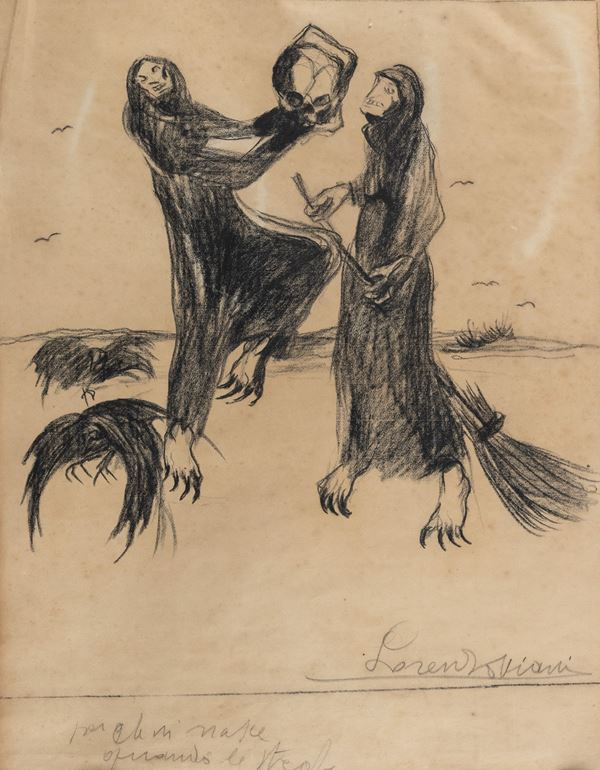 Lorenzo Viani - Disegno per illustrazione per le fole di Enrico Pea