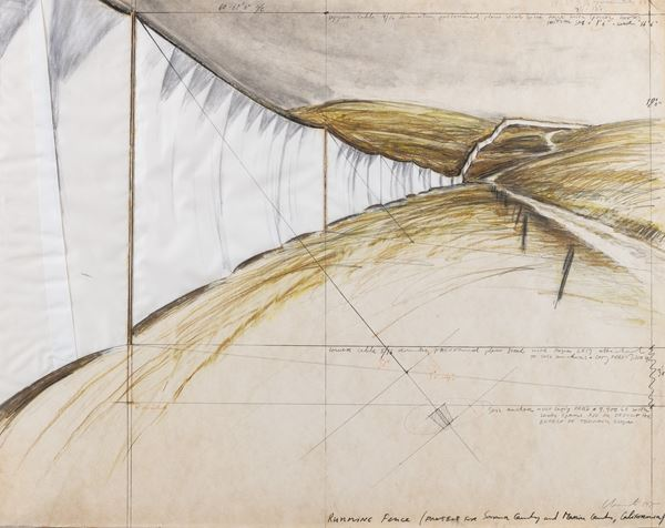 Christo - Running Fence (Project for Sonoma County and Marina County, California)