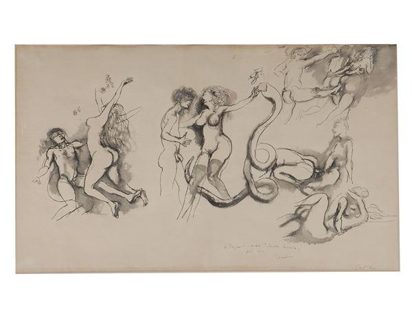 Renato Guttuso - Adamo ed Eva